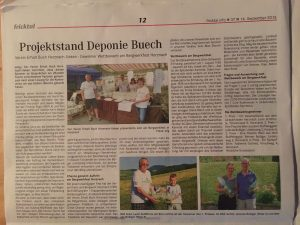 Projektstand Deponie Buech